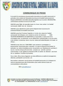COMMUNIQUE DE PRESS